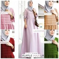 Baju busana kemeja muslim wanita RUFFLE MAXI terbaru murah
