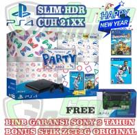 PS4 SLIM BUNDLE PARTY 500GB BONUS STICK/GARANSI SONY ASIA