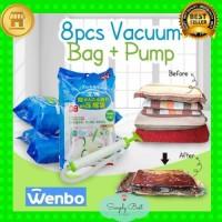 Gratis pompa Vakum Plastik 9 in 1 baju Storage Bag Jumbo Isi 8 travel