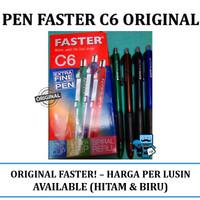 Pen Faster C6 Original - Box Isi 12 Pcs (1 Lusin)