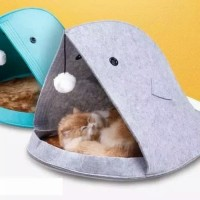 bed pouch fish - tempat tidur kucing anjing model ikan