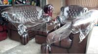 kursi tamu / sofa ruang tamu jaguar hitam 1 set