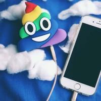 Power bank Poop emoji powerbank karakter pup rainbow