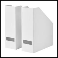 File Majalah, Box File, Document Organizer IKEA TJENA Putih