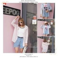 25333 - Blue,Pink Plaid (sale) - Cardigan loose style