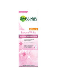 GARNIER Sakura White Whitening Serum Cream UV 20ml