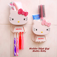 Holder Sikat Gigi HELLO KITTY (Bisa untuk tempat sikat gigi & sisir)