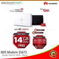 Mifi Modem E5673 Wifi Router Huawei 4G UNLOCK Free Telkomsel 14Gb 2Bln