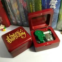 Kotak Musik Kayu Ulang Tahun Sankyo/ Wooden Music Box Happy Birthday