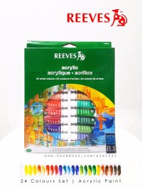 TERLARIS Reeves Acrylic Paint 24 Colours