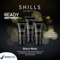 SHILLS BLACK MASK PURIFYING PEEL OFF MASK BPOM - MASKER ARANG SHILLS