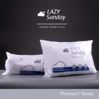 Paket 1 Bantal + 1 Guling Tidur LAZY Sunday , BEST DEAL !! Top Quality