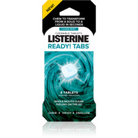 Listerine Ready! Tabs Chewable Tablets with Clean Mint Flavor, 8 Count