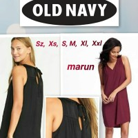 old nevy sleeveless swing dress