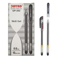 Gel Pen / Pulpen / Pena Joyko GP-262 /1 BOX 12 PCS / Skill Gel/ 0.5 mm