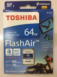 Toshiba Flash Air 64GB wifi SD Card Wireless LAN flashair w04 64gb 04