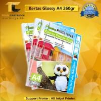 Kertas Glossy Photo Paper Double Side A4 260gsm, Kertas Foto Printer A