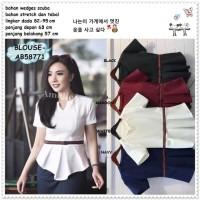 Baju Atasan Blouse Bangkok Korea Import AB58771 Biru Pink Merah Putih
