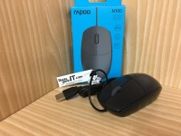 Optical Mouse RAPOO N100 USB Wired (ORIGINAL & GARANSI)