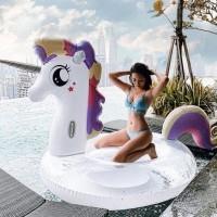 GLITTER PONY Unicorn Float Pelampung Ban Renang Unicorn Pool Floaties