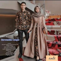 Baju Couple Batik Sarimbit Sarwendah Kemeja Lengan Panjang
