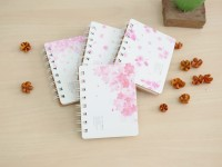 Buku Catatan Garis Sakura Flower Spiral Ruled Notebook A7 Bagus