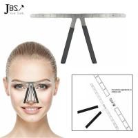 JBS Penggaris Cetakan Pembentuk Alis permanen eyebrow ruler K089 polos