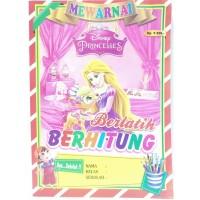 Buku Edukatif Mewarnai Berlatih Berhitung Princess Anak Perempuan
