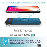 JGT Power Bank Wireless Charging and Fast Charging 10200 mAh- JGT 016
