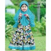 Gamis dress syari anak usia 6-8 tahun