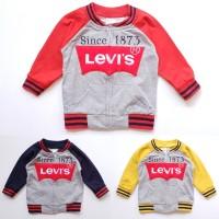 Jaket Anak Bayi Cowok Laki Varsity Levis Baby terry 6-18 bulan