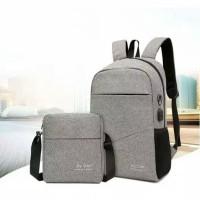 Buy 1 Get 1 ORIGINAL Tas Ransel Anti Air + USB Charger Earphone