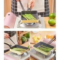 Tamagoyaki Non Stik Wajan Penggorengan Omlet mini Lapisan Keramik