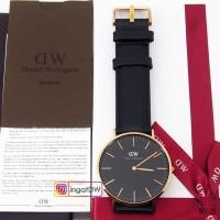 Jam tangan daniel wellington classic black sheffield 36/40mm rosegold