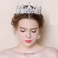 Aksesoris Mahkota Ratu Pesta Wedding l Tiara Pengantin Modern- MPW 006