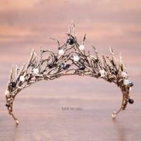 Mahkota Rambut Queen Pesta Wedding Modern Aksesoris Pengantin MRW 020