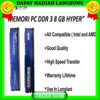Memori/Ram Pc Kingston Hyper Ddr3 8gb, komputer