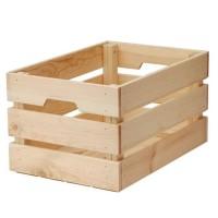 KNAGGLIG Kotak, kayu pinus, uk 46 x 31 x 25 cm