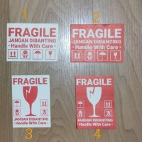 sticker fragile 4,3cm x 6cm tahan air