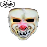 Topeng Badut Monster Hidung Merah Seram Topeng Halloween Skull Mask