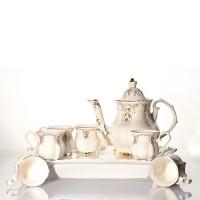 Tea Set Keramik Corak Gold Capodimonte
