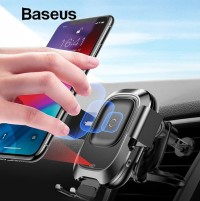 BASEUS Smart Vehicle Car Mount Wireless Charger Phone Holder Charging