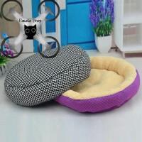 Pet Kasur Tempat Tidur Hewan Kucing Anjing Zigzag Bahan Lembut Rumah