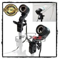 Promo Holder Lampu Studio Socket E27 dengan Dudukan Payung.