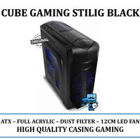 Casing PC CPU CUBE GAMING STILIG Black - ATX / Full Acrylic Window