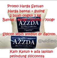 Bantal Guling Azzda isi full Silikon / Bantal Silicon Dacron (satuan)
