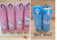 Thermos Vacum Bottle Stainless Steel Hello Kitty Doraemon-Botol Termos