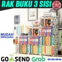 Rak BUKU 3 Sisi Serbaguna RAK portable lemari buku MURAH