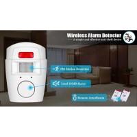 Alarm Sensor Gerak 2 Anti Maling Infrared PIR Remote Control 8m Area