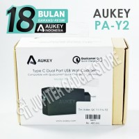 Aukey PA-Y2 Wall Charger Quick Charge 3.0 Bonus Kabel Usb Type C | Ori